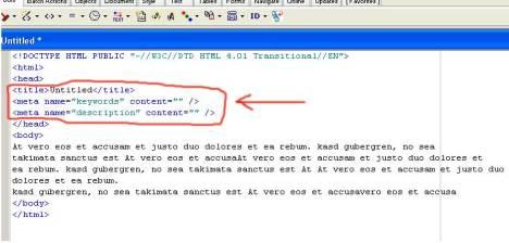porada dla specjalisty PR jak pozycjonowac materiały PR przy pomocy zmian w kodzie strony www - meta tagi keywords,description